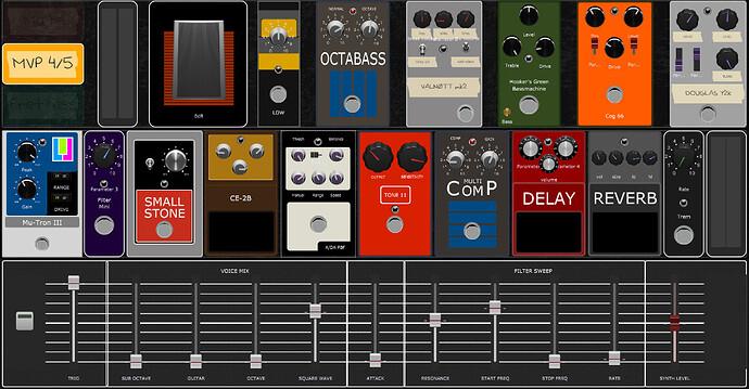 Bass-virtual-pedalboard